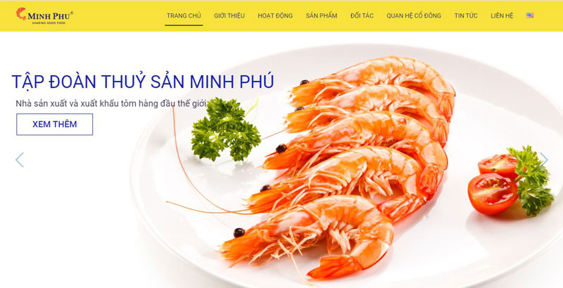 Thiết Kế Website Thủy Sản - Nông Sản Giá Rẻ