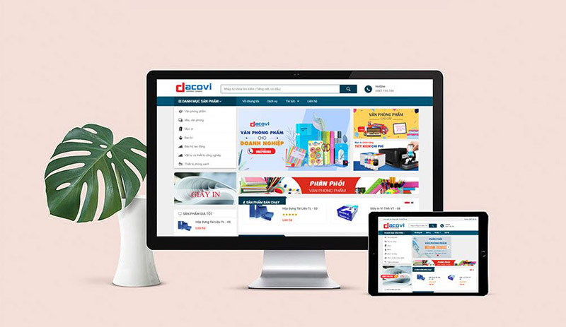 Thiết Kế Website Văn Phòng Phẩm Giá Rẻ